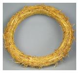 Věneček slámový - 16 cm