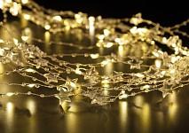 Světelný LED  řetěz - hvězdičky 150 mini led