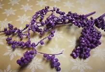 Canella větvička - zimní - purpurová