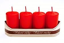Adventní svíce - červené malé