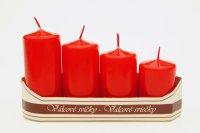 Adventní svíce - postupné - červené