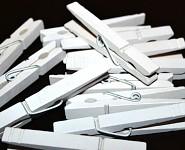 Kolíčky dřevěné 72mm - bílé - 10ks