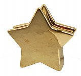 Stojánek na ubrousky - hvězda keramická zlatá