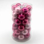 Baňka sklo závěs - 38 mm - růžová