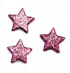 Hvězdička malá plochá - sv.fialová glitter - 1ks