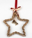 Ratanová hvězda se zvonečky - závěs