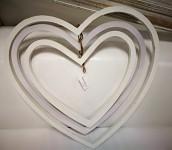 Ratanové srdce se zvonečky - závěs - malé
