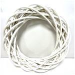 Věnec - bílý hrubý - 25 cm