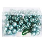 Baňky na drátku sv.modré 25mm - 1ks - matné