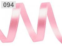 Saténová stuha 6 mm - sladce růžová - 1m