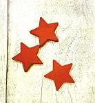 Dřevěná  hvězdička 35mm - jasně červená - 1ks