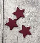 Dřevěná  hvězdička 35mm - vínová 1ks
