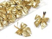 Mašlička mini glitter - zlatá