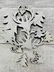 Dřevěné vánoční dekorace - mix motivů - bělené