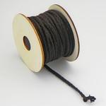Textilní provázek splétaný - hnědý - 1m