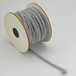 Textilní provázek splétaný - šedý - 1m