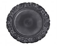 Aranžovací podložka - kulatá černá - 36 cm