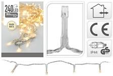 Světelný řetěz venkovní - teplé světlo - 204 LED