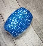 Vázací stuha modrá s bílými puntíky - 20m