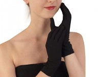 Rukavice černé prstové - krátké