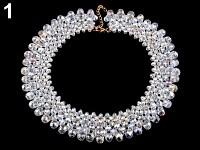 Náhrdelník z broušených korálků - crystal