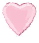 Foliový balonek srdce růžové - 45 cm