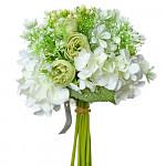 Kytice - růže a hortenzie - ivory