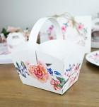 Svatební košíček na koláčky - květinový věnec