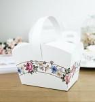 Svatební košíček na koláčky - květinový rám