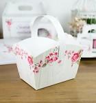 Svatební košíček na koláčky - dřevodekor