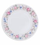 Papírové talíře 23 cm - květinový rám - 8ks