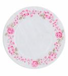 Papírové talíře 23cm  - dřevodekor - 8ks
