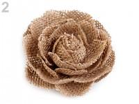 Jutová růže - 6cm - 1ks