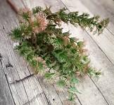 Tráva zápich plast - zeleno-růžová