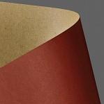 Tvrdý papír - kraft - přírodní červený