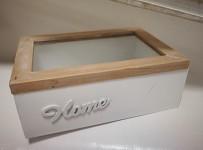 Dřevěná krabička malá - HOME