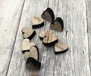 Dřevěná srdíčka natur mini - 12ks