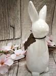 Zajíc porcelán - bílá perleť - 17cm
