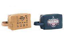 Kosmetická taška - barber shop - modrá