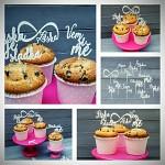 Cupcakes zápichy - 12ks - bílé