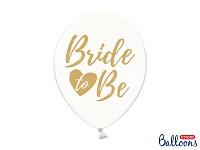 Balonek - čirý se zlatým nápisem Bride to be