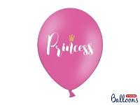Balonek - růžový s nápisem Princess