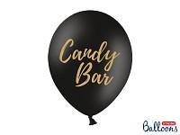 Balonek - černý se zlatým nápisem Candy bar