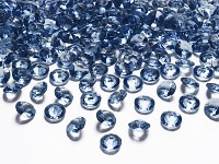 Akrylové diamanty malé - šedomodré