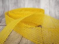 Stuha jutová 50 mm - žlutá - 1m