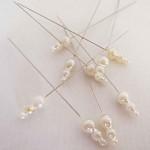Špendlík maxi - krémové perly -1ks
