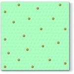 Ubrousky - mátové se zlatými puntíky