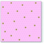 Ubrousky - růžové s bílými puntíky a srdíčkem