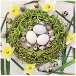 Ubrousky - velikonoční s věnečkem a vajíčky