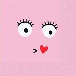 Ubrousky růžové - smajlík pusinka